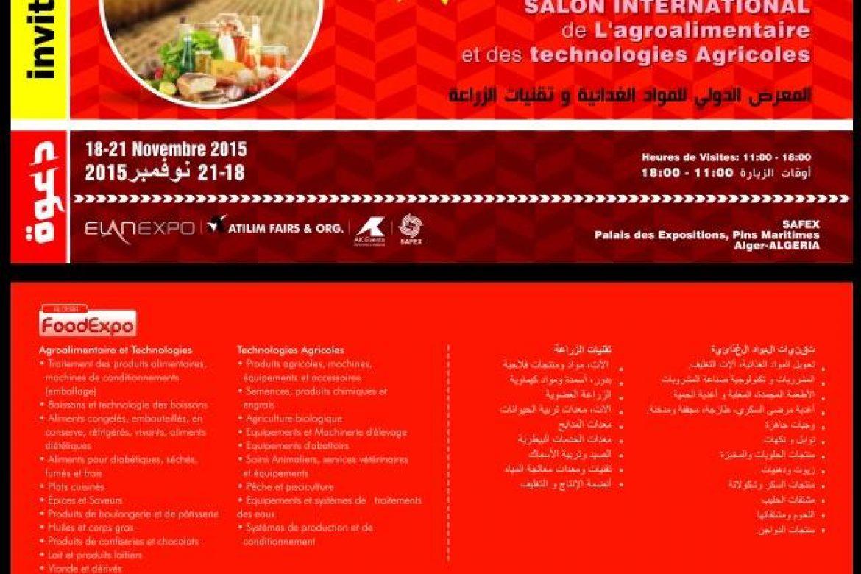 18-21 Kasım 2015 Cezayir Fuarı